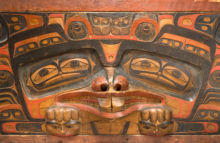 HAIDA MASTER CARVER CHARLES DA.A XIIGANG EDENSHAW AT MCMICHAEL CANADIAN ART COLLECTION