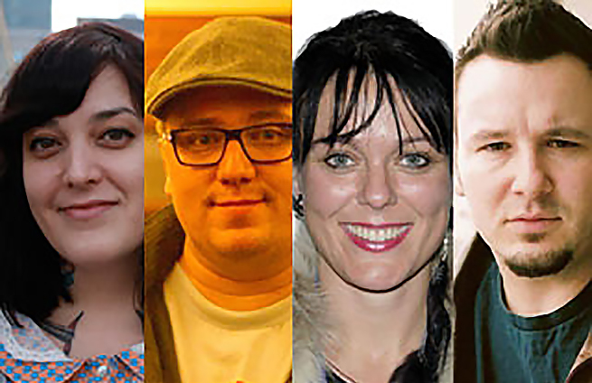 2013 Dramatic Feature Film Script Development Lab Recipients: Kaherawaks Thompson, Ryan McMahon, Michelle Latimer, Craig Lauzon