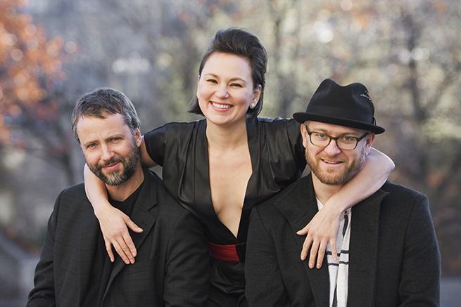 Tanya Tagaq with violinist Jesse Zurbot and precussionist Jean Martin