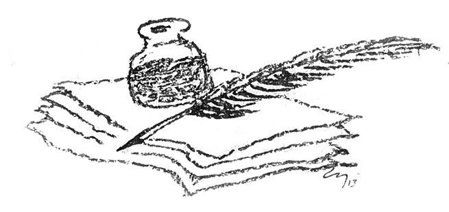 Charcoal drawing by Leo Yerxa