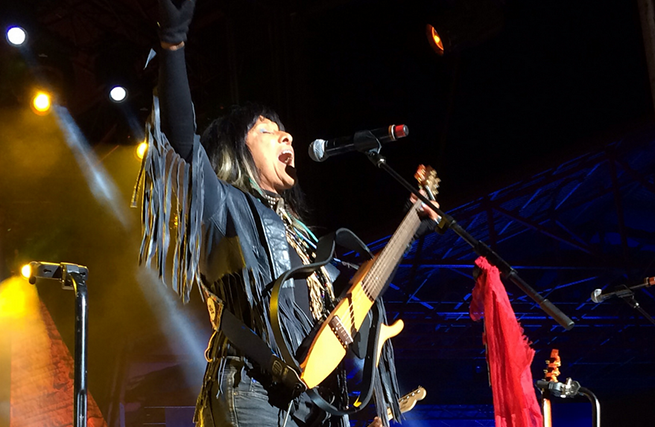 Buffy Sainte-Marie. Photo: Jessica Sigurdson/CMHR