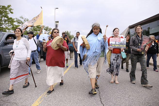 The Unity March was led by Indigenous women, in the end bringing nearly 5,000 people to Parliament Hill.