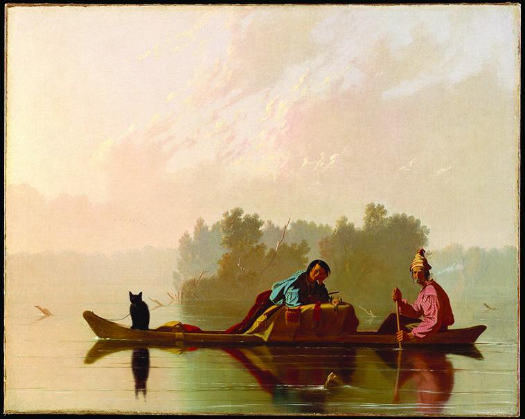 "George Caleb Bingham - ""Fur Traders Descending the Mississippi"" 1845."