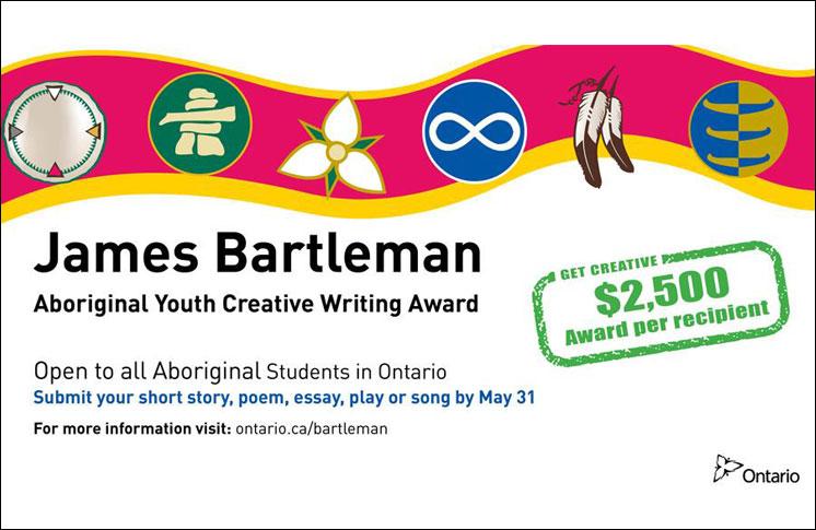 JAMES BARTLEMAN ABORIGINAL YOUTH CREATIVE WRITING AWARDS