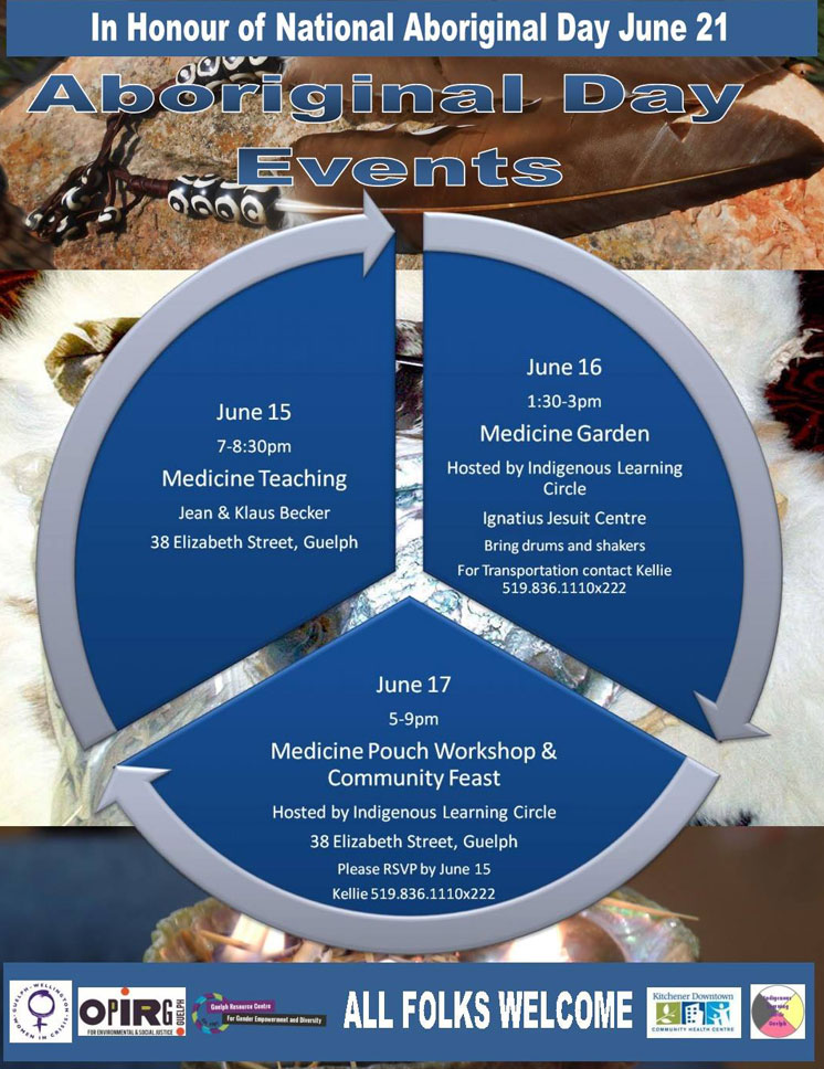ABORIGINAL DAY EVENTS – INDIGENOUS LEARNING CENTRE | GUELPH, ONTARIO