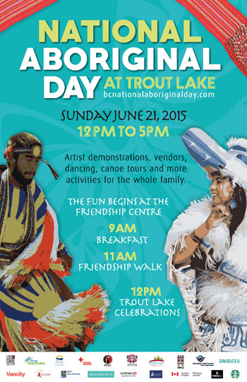 National Aboriginal Day at Trout Lake Celebrations Poster