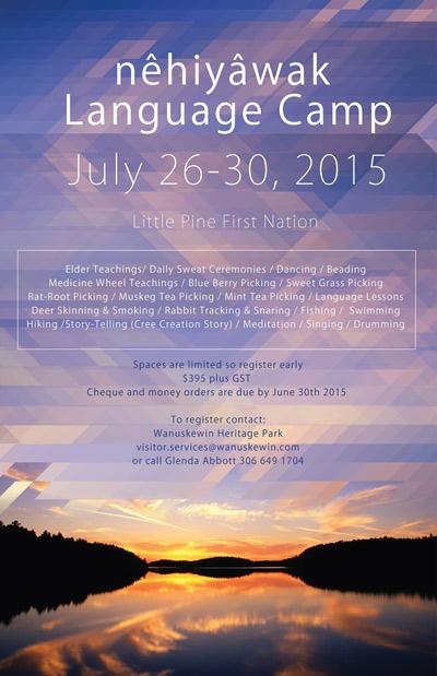 Nehiyawak Language Camp Brochure