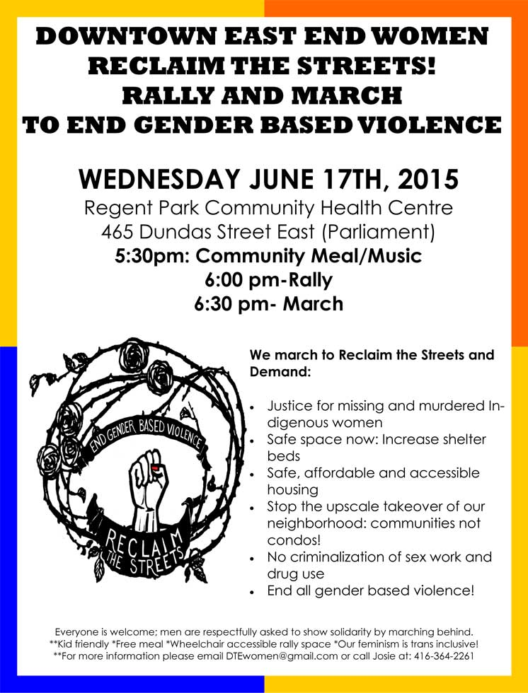 RECLAIM THE STREETS! RALLY AND MARCH TO END GENDER BASED VIOLENCE