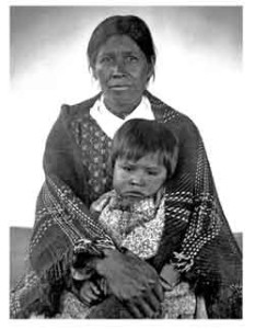 1888 photo of Cherokee woman holding child in lap | image source : nps.gov and James Mooney Photograph