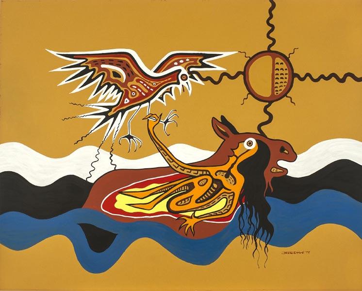 Nanabush Catches The Eagle by Jackson Beardy