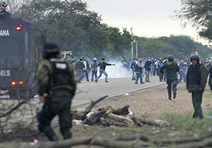 Police Using Tear Gas Against Protesters
