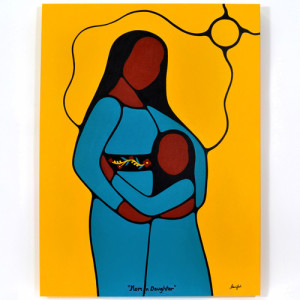 Mom n' Daughter - Acrylic on Canvas | Photo Source: Lattimer Gallery
