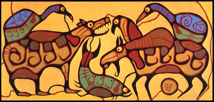 Animal Unity by Norval Morrisseau