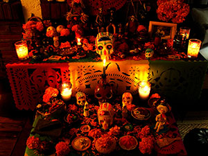An Example of an Ofrendas, an Altar Set Up for Deceased Loved Ones on Dia De Los Muertos