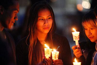 Candle light vigil.  #mmiw