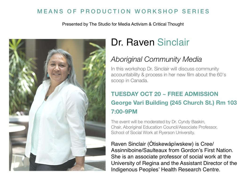 RAVEN SINCLAIR & ABORIGINAL COMMUNITY MEDIA