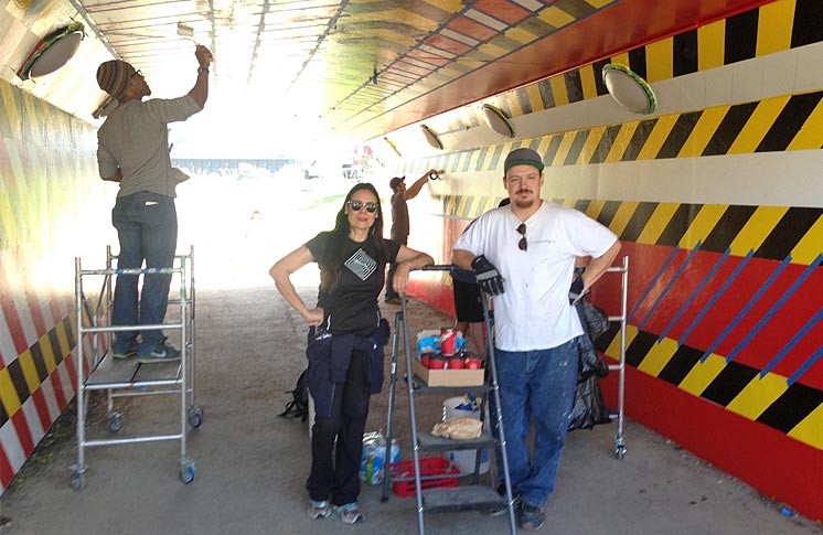 MURAL TO BE UNVEILED AT THE UNDERPASS OF LOWER DON RIVER TRAIL WITH BALA RAIL LINE