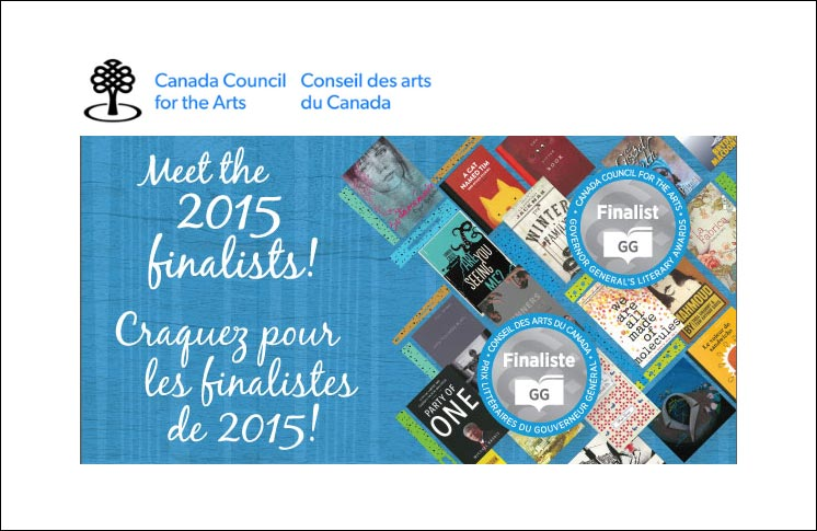 MEET THE 2015 GOVERNOR GENERAL'S LITERARY AWARDS FINALISTS