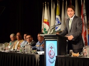 Liberal leader, Justin Trudeau addresses AFN congress | Image source: cbc.ca
