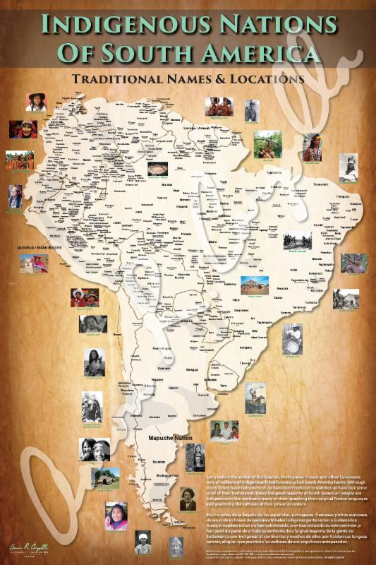 SOUTH AMERICAN TRIBAL MAP