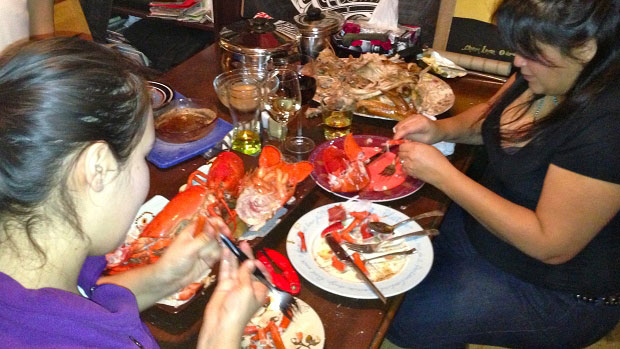 Kim Wheeler opts out of celebrating Thanksgiving and making the traditional turkey, but their alternative feast occasionally includes lobster.