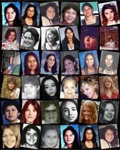 Missing and murdered Indigenous women photos | Image source: warriorpublications.wordpress.com