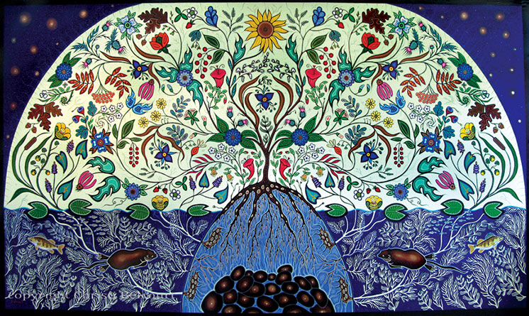 Honouring My Spirit Helpers by Christi Belcourt