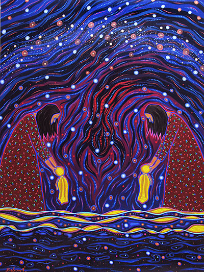 Offerings and Prayers for Genebek Ziibiing by Christi Belcourt