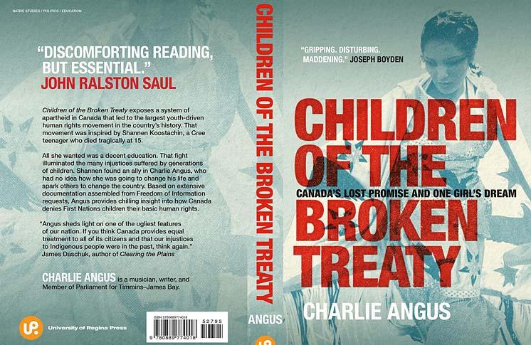 CHARLIE ANGUS OPENS EYES IN CHILDREN OF THE BROKEN TREATY