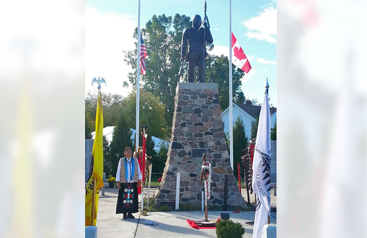 TECUMSEH SCULPTURE UNVEILED ON WALPOLE ISLAND