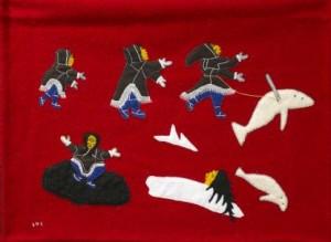 A piece of Nattilik art from Ullulaq Inuit Art Gallery in Gjoa Haven| Image source: ullulaqinuitart.com
