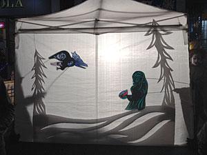 Shadow puppets at the Kensington Market Winter Solstice Parade