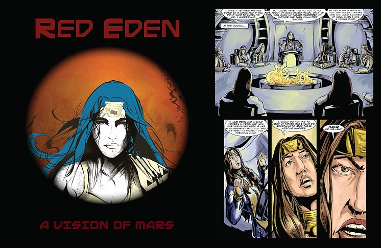 NATIVE AMERICANS BATTLE TO SAVE MARS IN NEW SCI-FI GRAPHIC NOVEL