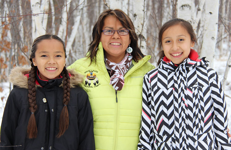 THREE ANISHINABE ATTEND THE CLIMATE CONFERENCE