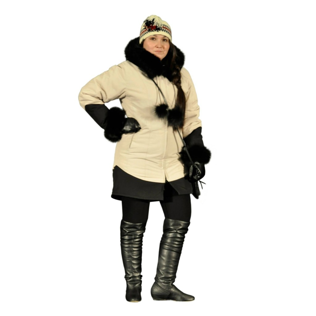 Women's parka in white | Image source: nunavikcreations.com