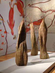 Battle for the Woodlands; Anishinaabitude; Three Woven Baskets;