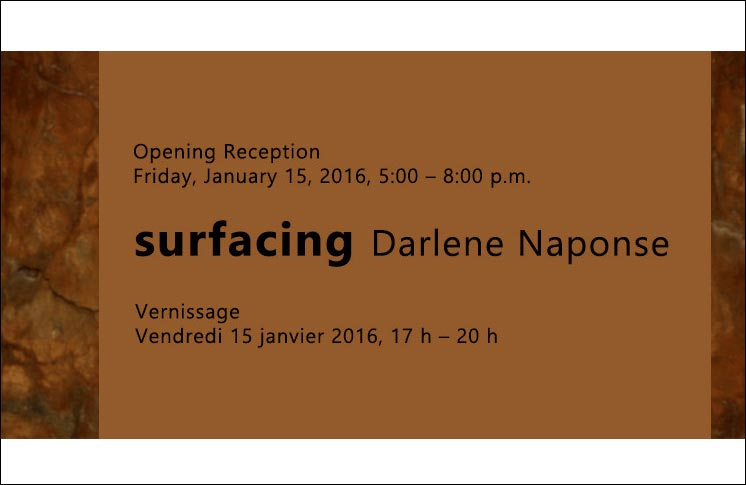 """INVITATION TO ATTEND OPENING OF """"SURFACING"""" VIDEO EXHIBITION"""