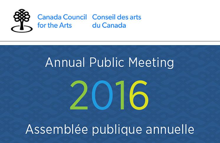 INVITATION: CANADA COUNCIL ANNUAL PUBLIC MEETING