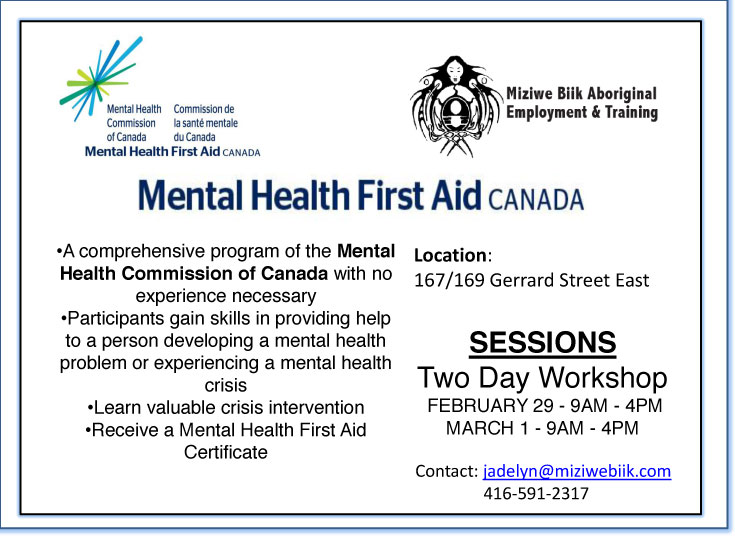 Mental Health First Aid Canada Muskrat Magazine