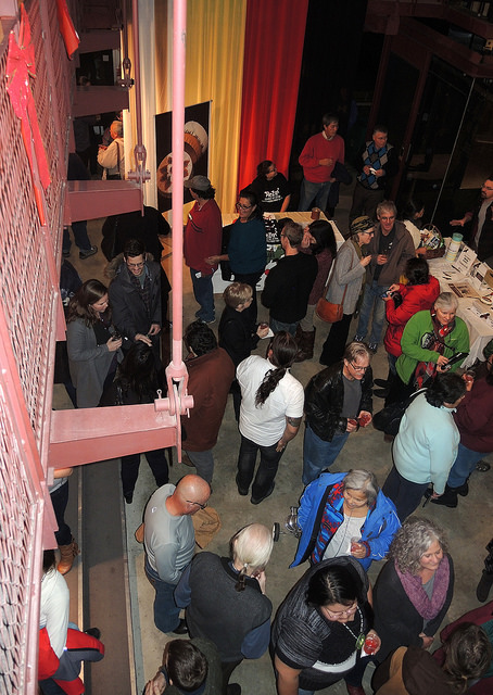 Crowd shot from above at the Stockey Centre for Performing Arts