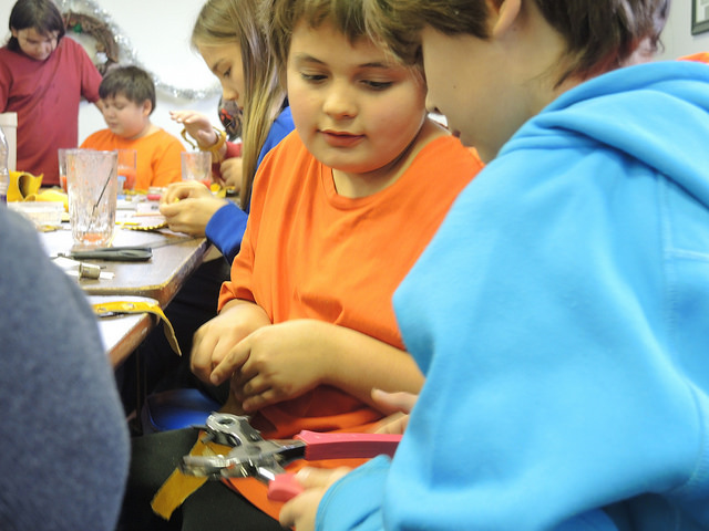 Youth at the Porcupine Bracelet Making Workshop