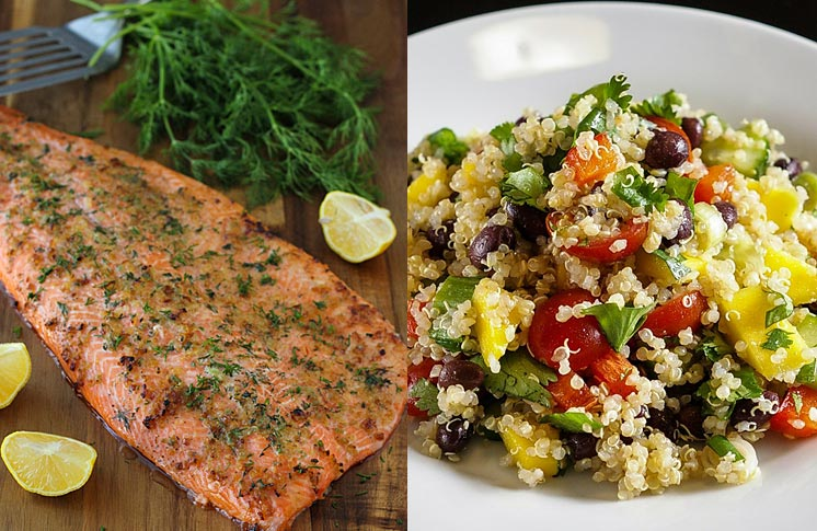 FROM THE BIRDS: TROUT QUINOA SALAD