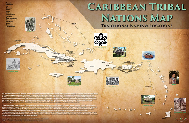 BRAND NEW CARIBBEAN TRIBAL MAP RELEASED