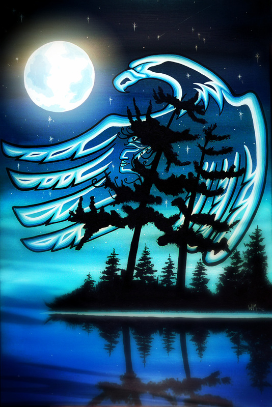 Blue Moon Remembering a Loved One by William Monague