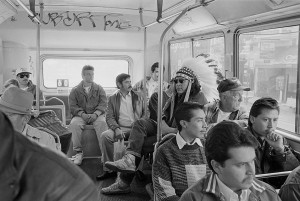 Indian on Mission Bus by Zig Jackson