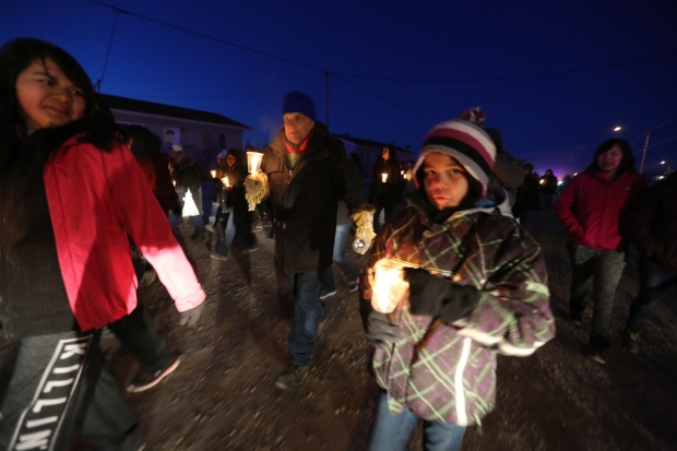Attawapiskat vigil walk