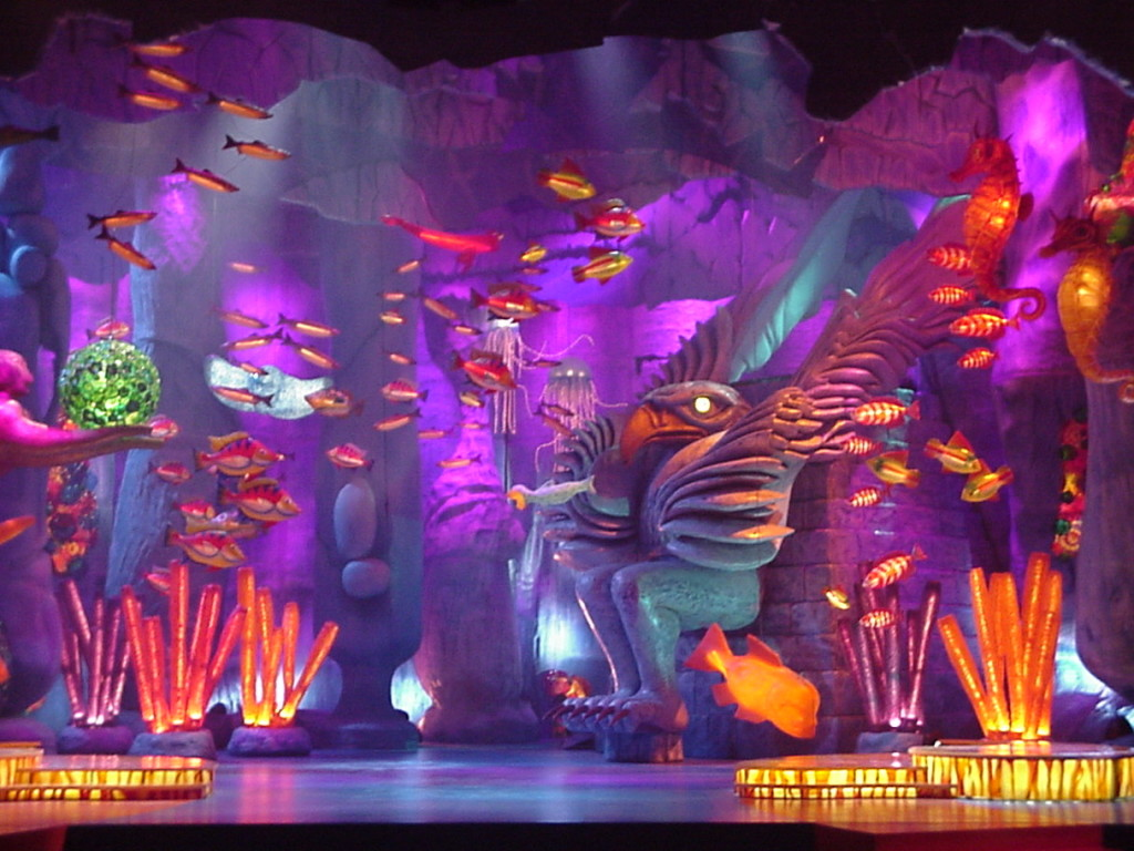 Underwater world set design for the National Aboriginal Achievement awards in Vancouver, 2000