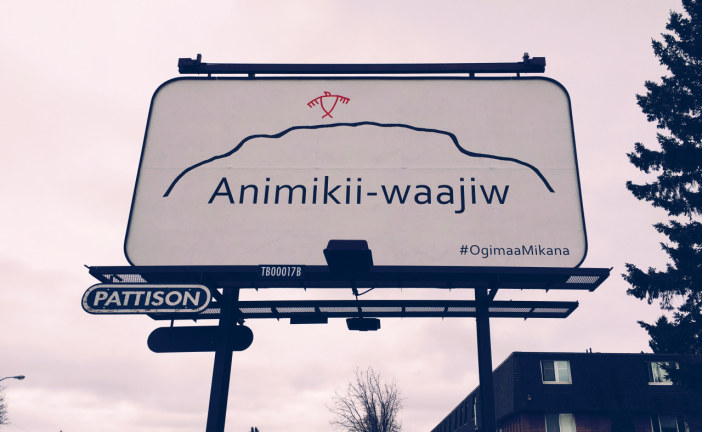 ANIMIKII-WAAJIW SIGN UP IN FORT WILLIAM THROUGH THE OGIMAA MIKANA PROJECT