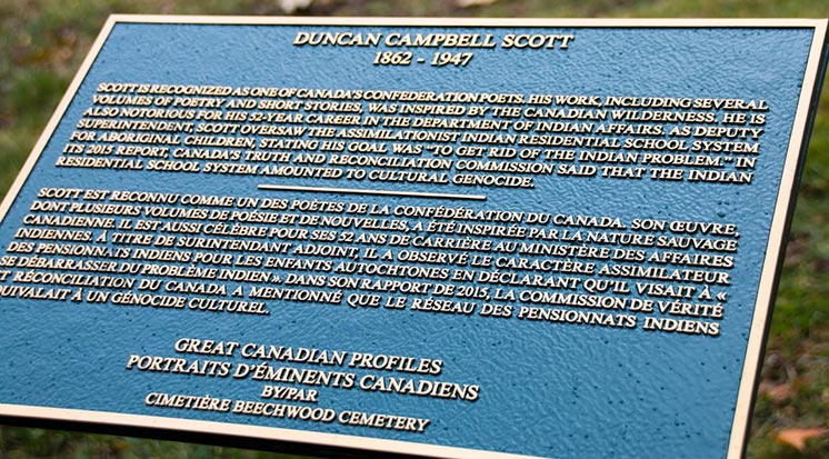 Duncan Campbell Scott Plaque