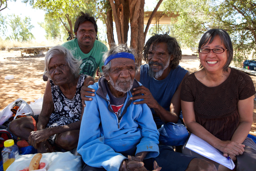 Putuparri with Elders Spider, Dolly, Japeth and director Nicole